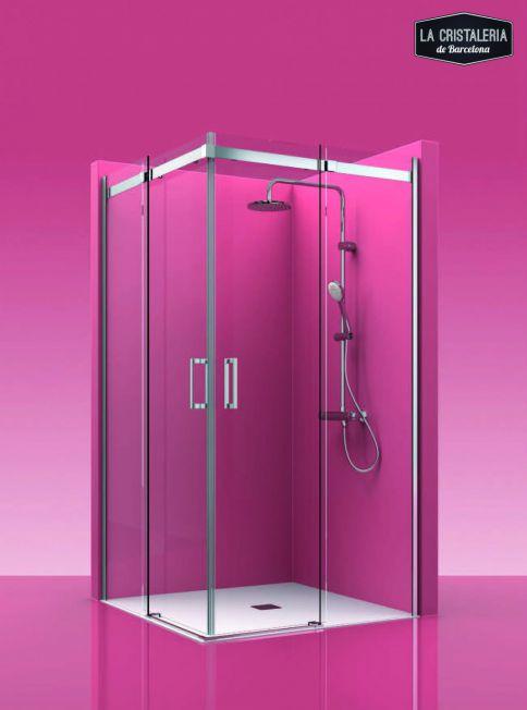 Puerta corredera para mampara de ducha la cristaleria de for Mamparas ducha barcelona