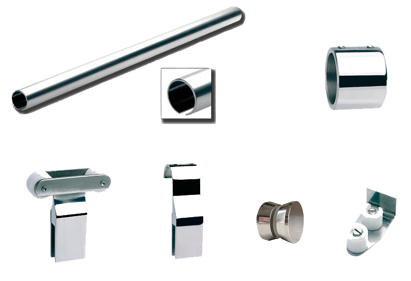 Puerta corredera para mampara de ducha la cristaleria de for Herrajes para mamparas de cristal