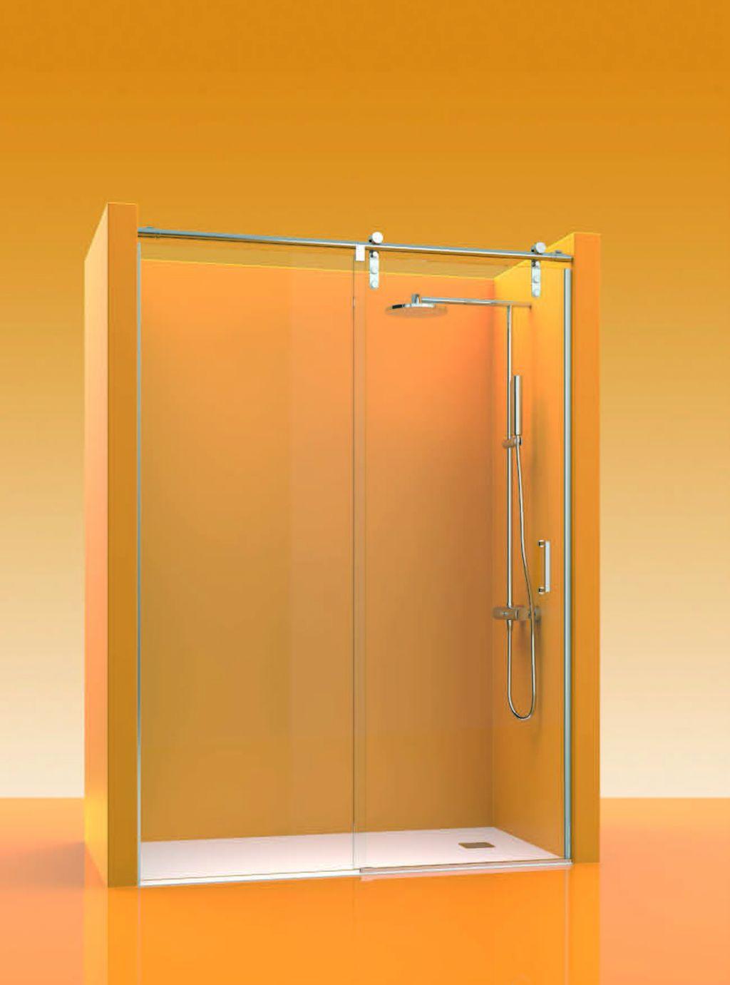 Mampara corredera inox la cristaleria de barcelona - Cristal fijo para ducha ...