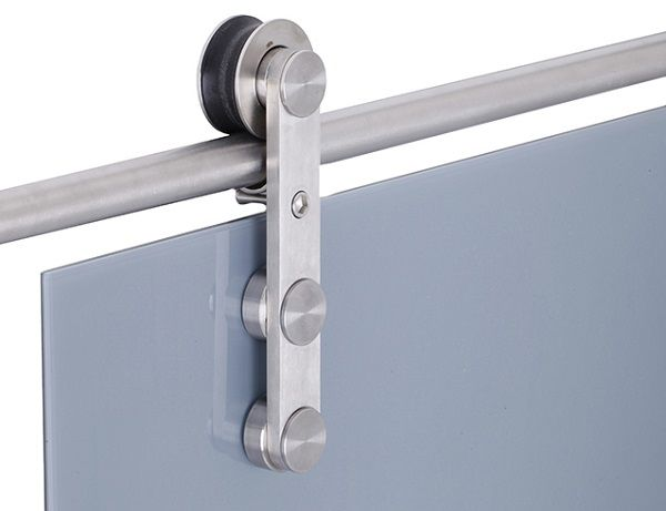 Puerta corredera con barra de acero la cristaleria de - Guia puerta corredera ...