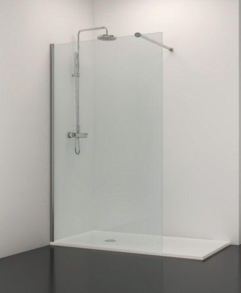 Mamparas Para Baño Economicas:Mampara fia de cristal para el baño