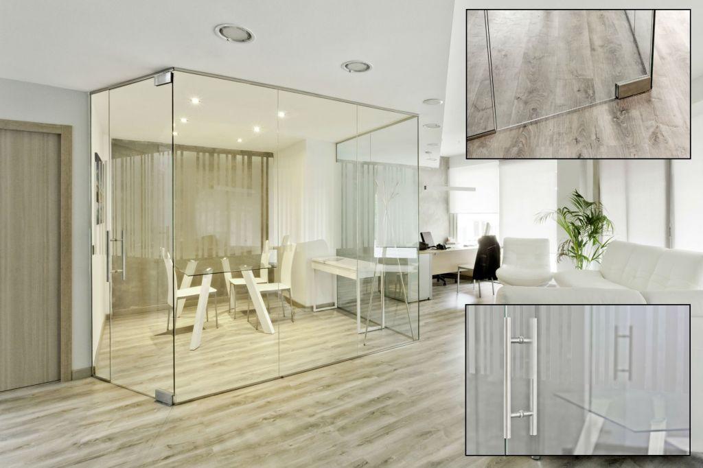 Mamparas de oficina la cristaleria de barcelona for Cerramientos oficinas