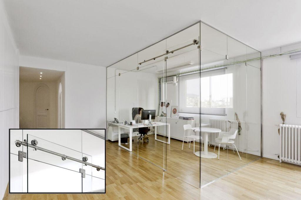 Acristalamiento de oficinas la cristaleria de barcelona for Puertas de cristal para oficina