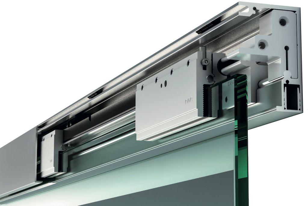 Puertas correderas con gu a de aluminio la cristaleria - Puerta corredera de aluminio ...