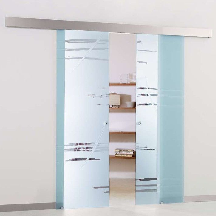 Puertas correderas de cristal en barcelona la - Puertas correderas empotradas ...